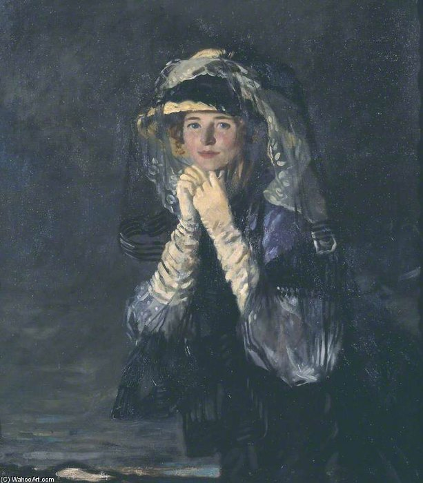 Lady Orpen by William Newenham Montague Orpen (1878-1931, Ireland) | Museum Quality Reproductions | ArtsDot.com
