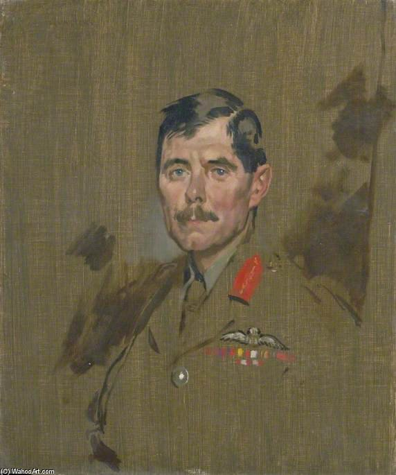 Major General Hugh M. Trenchard by William Newenham Montague Orpen (1878-1931, Ireland)