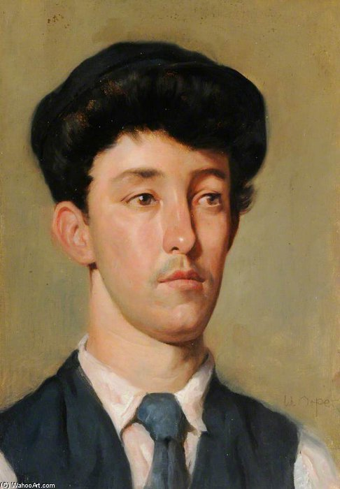 Portrait Of A Youth by William Newenham Montague Orpen (1878-1931, Ireland) | Museum Quality Reproductions | ArtsDot.com