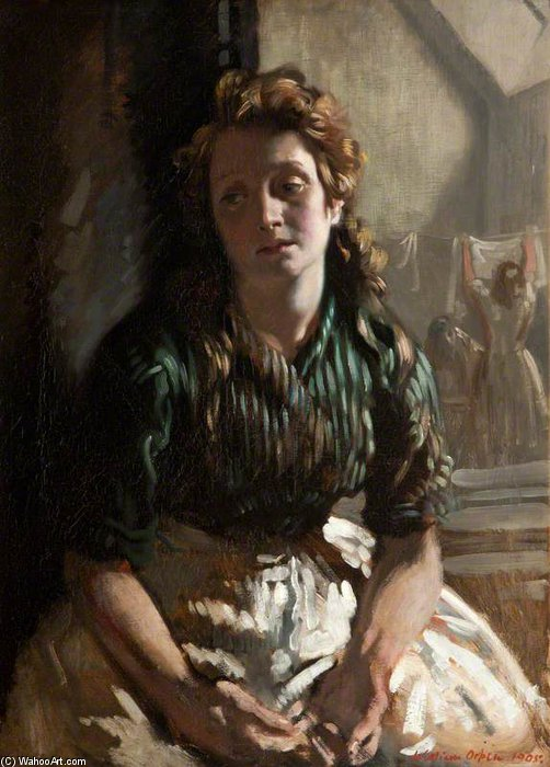 Resting by William Newenham Montague Orpen (1878-1931, Ireland)
