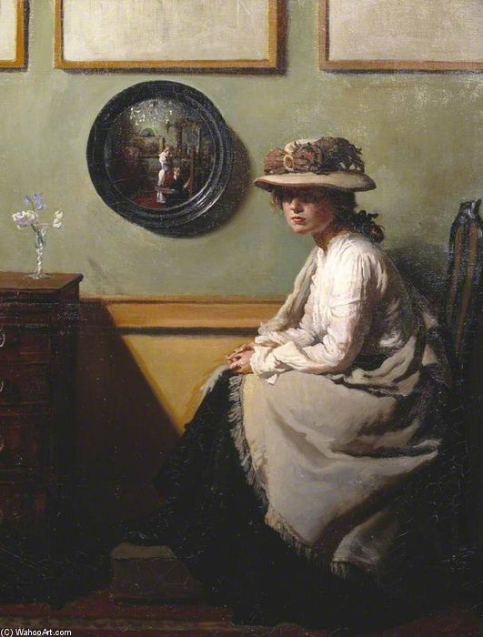 The Mirror by William Newenham Montague Orpen (1878-1931, Ireland) | Museum Quality Reproductions | ArtsDot.com