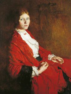 William Newenham Montague Orpen - The Red Scarf