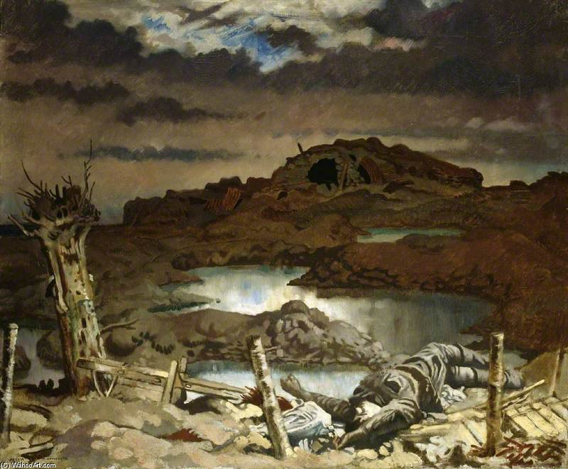 Zonnebeke by William Newenham Montague Orpen (1878-1931, Ireland)