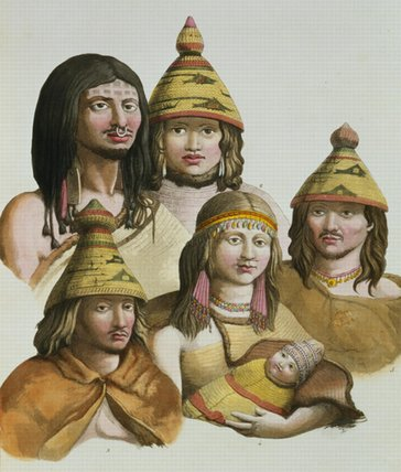 Studies Of Native Americans by Gallo Gallina (1796-1874, Italy)