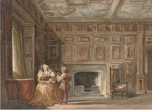 Joseph Nash The Younger - An Apartment At Haddon Hall, D..