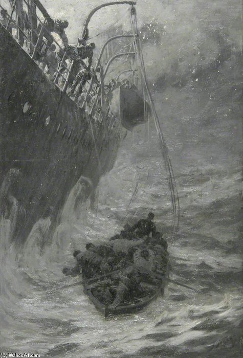 Sea Rescue by Joseph Nash The Younger (1835-1922, United Kingdom)