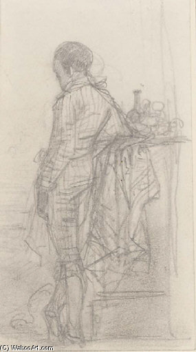 Study Of A Young Boy, Observed From Behind by Joseph Nash The Younger (1835-1922, United Kingdom)