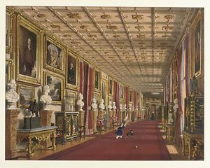 Joseph Nash The Younger - Long Corridor At Windsor Castl..