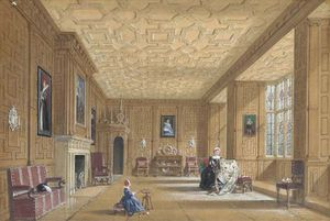 Joseph Nash The Younger - Oak Room At Broughton Castle N..