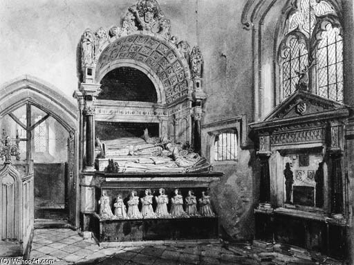 Shurley Family Monuments, St. Margaret's Church, Isfield, Sussex by Joseph Nash The Younger (1835-1922, United Kingdom)