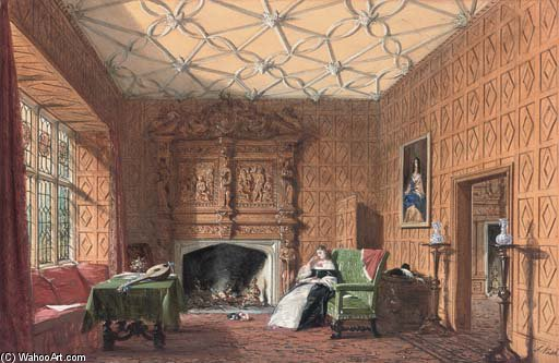 Small Drawing Room by Joseph Nash The Younger (1835-1922, United Kingdom)