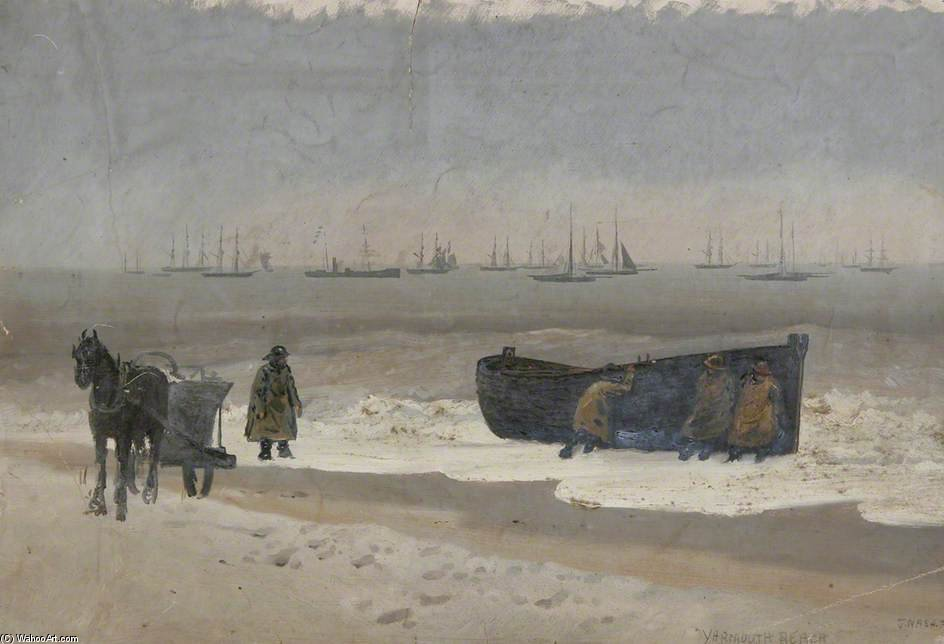 Yarmouth Beach, Norfolk by Joseph Nash The Younger (1835-1922, United Kingdom)