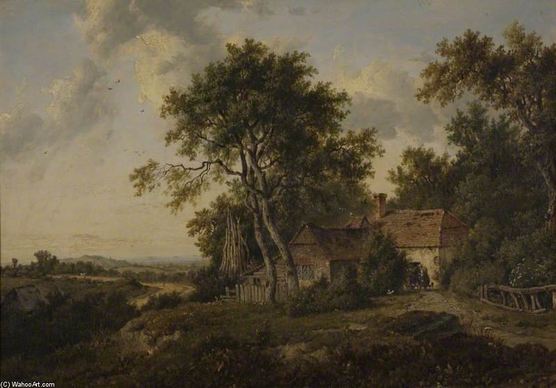 A Cottage Among Tree by Patrick Nasmyth (1787-1831, United Kingdom)