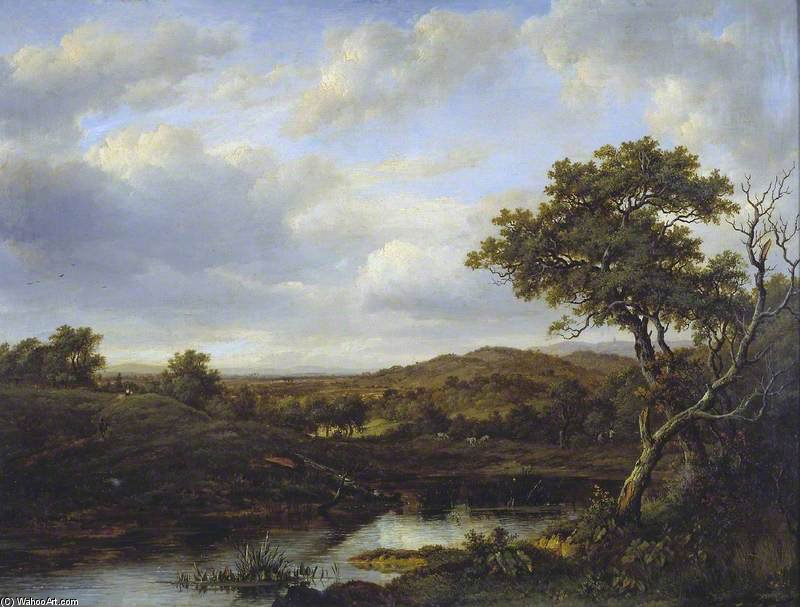 A Pond by Patrick Nasmyth (1787-1831, United Kingdom)