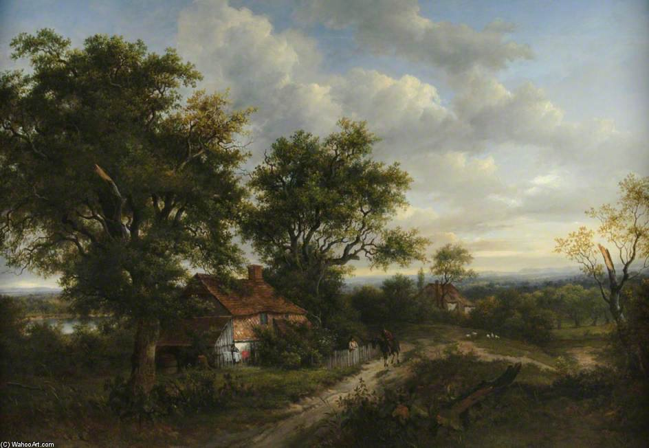 A View In Hampshire by Patrick Nasmyth (1787-1831, United Kingdom)