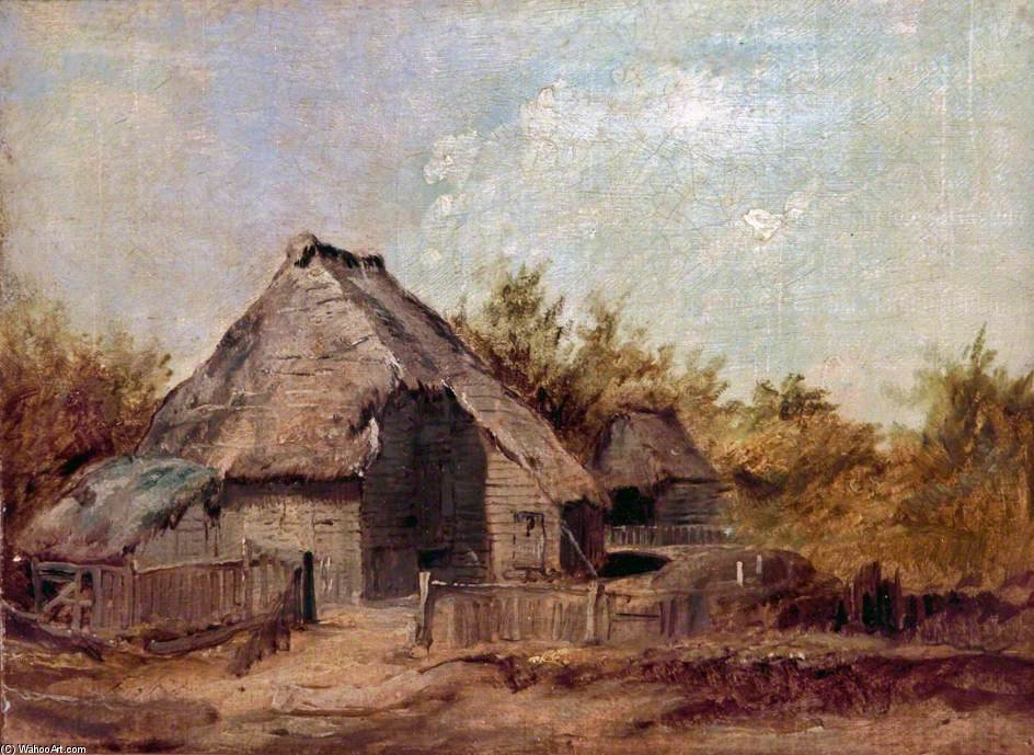 Farm Buildings by Patrick Nasmyth (1787-1831, United Kingdom)