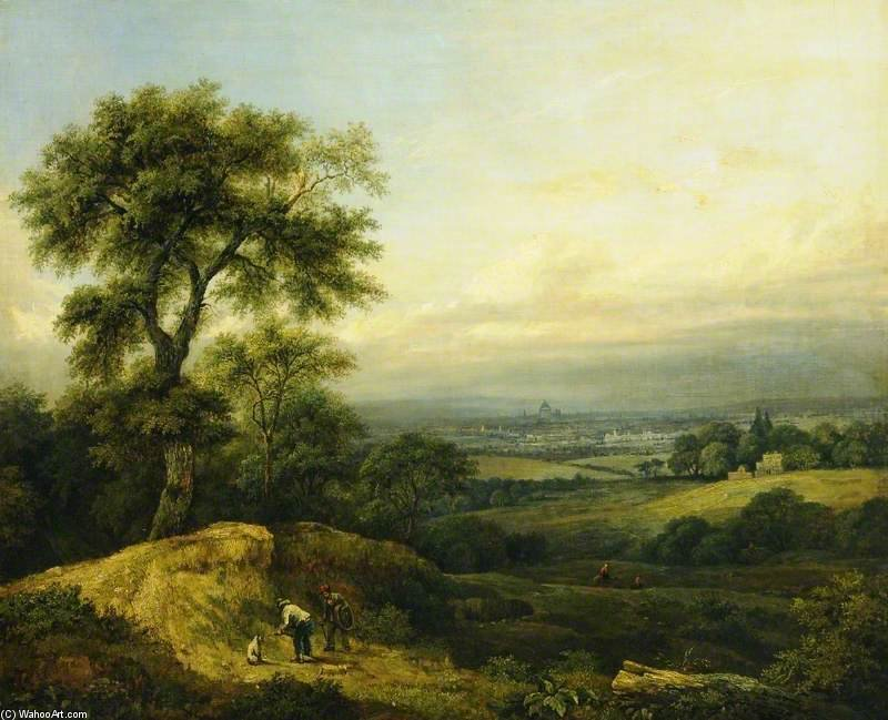 Landscape - by Patrick Nasmyth (1787-1831, United Kingdom)