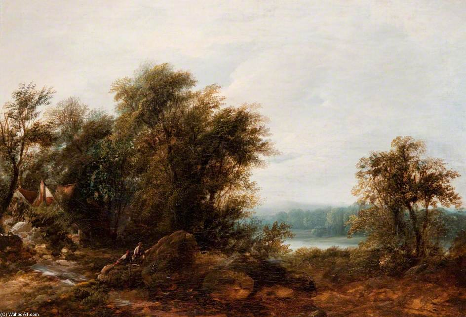Landscape - (9) by Patrick Nasmyth (1787-1831, United Kingdom)