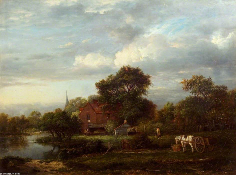 Landscape With A Cottage And A Brook by Patrick Nasmyth (1787-1831, United Kingdom)