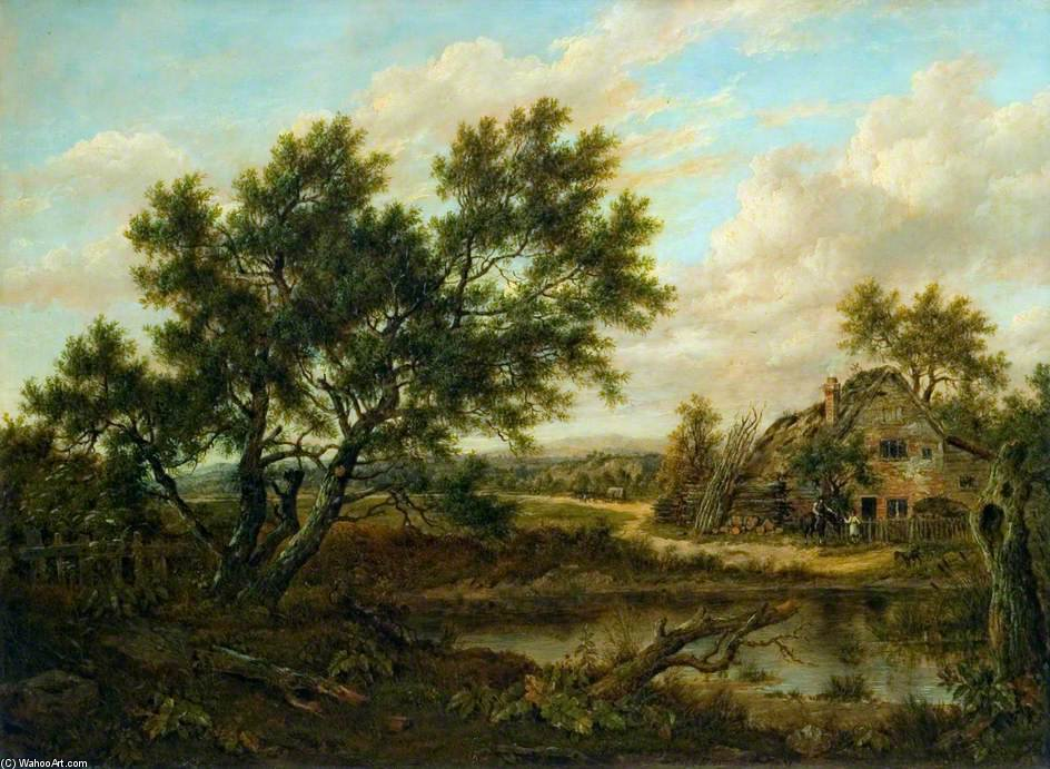 Landscape With A Cottage And Figures by Patrick Nasmyth (1787-1831, United Kingdom)