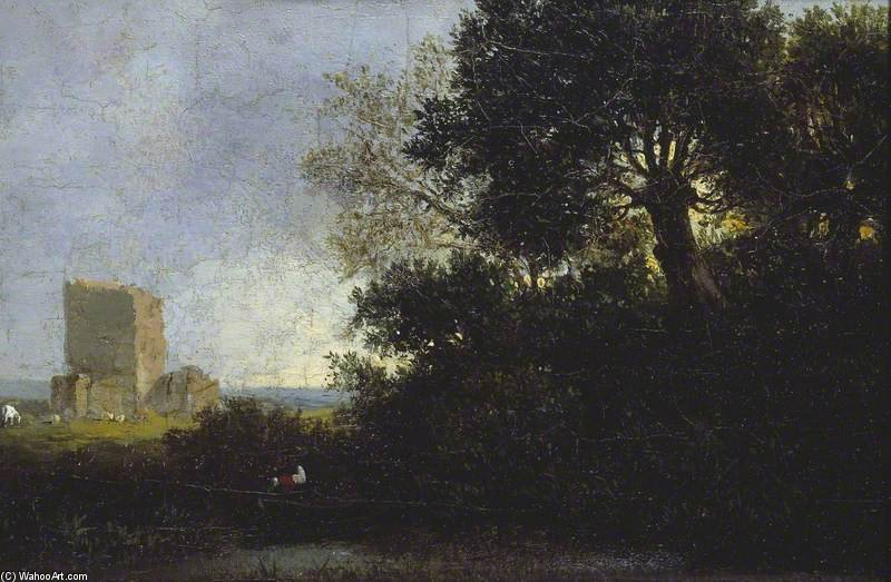 Landscape With A Ruin by Patrick Nasmyth (1787-1831, United Kingdom)