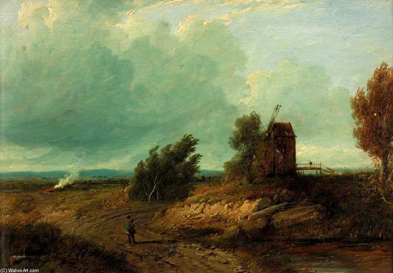 Landscape With An Old Mill by Patrick Nasmyth (1787-1831, United Kingdom)