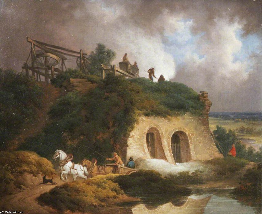Lime Kilns by Patrick Nasmyth (1787-1831, United Kingdom)