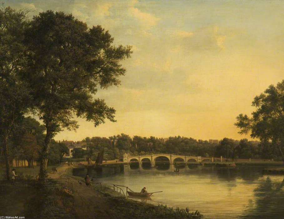Richmond upon Thames – Early Evening by Patrick Nasmyth (1787-1831, United Kingdom)