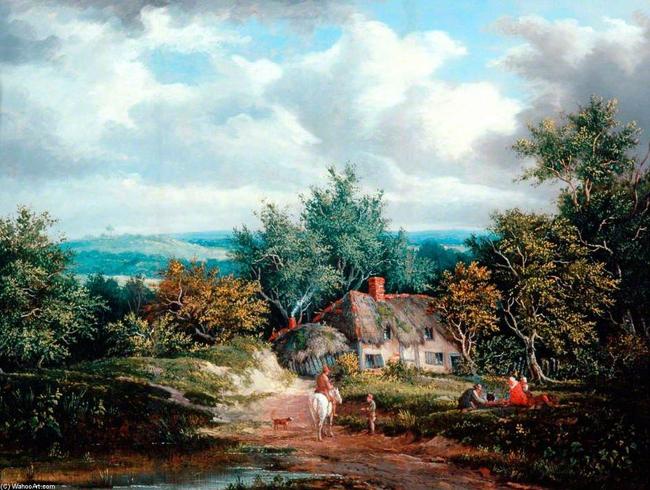 Rustic Scene by Patrick Nasmyth (1787-1831, United Kingdom)