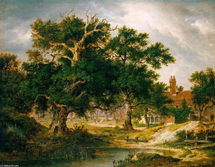 Sir Philip Sidney's Oak by Patrick Nasmyth (1787-1831, United Kingdom)