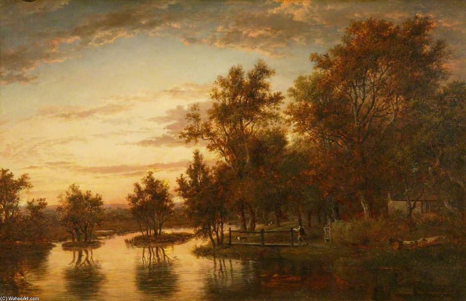 Sonning On The Thames by Patrick Nasmyth (1787-1831, United Kingdom)