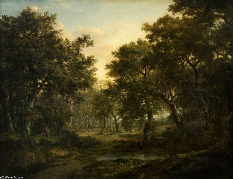 The Edge Of The Wood by Patrick Nasmyth (1787-1831, United Kingdom)
