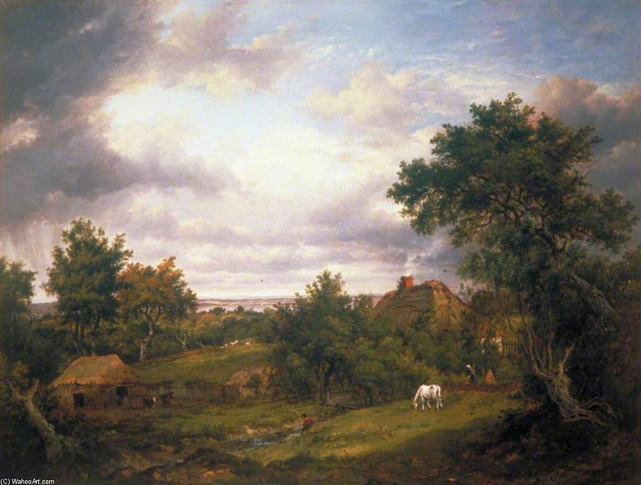 View In Hampshire by Patrick Nasmyth (1787-1831, United Kingdom)