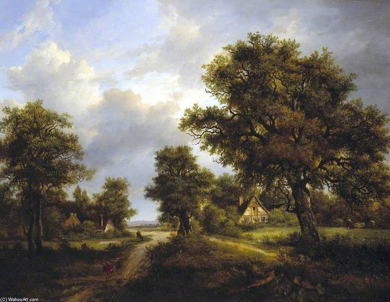 View In Sussex - by Patrick Nasmyth (1787-1831, United Kingdom)