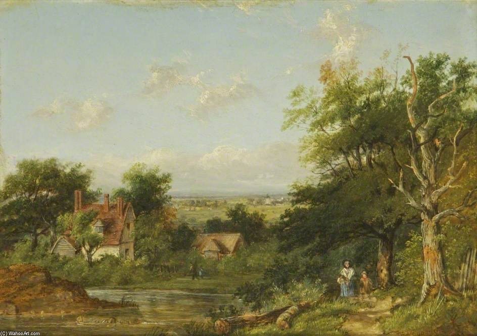 View In Sussex by Patrick Nasmyth (1787-1831, United Kingdom)