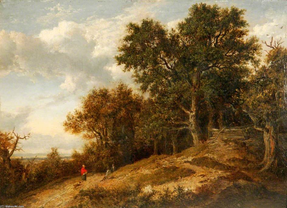 Wooded Landscape With Distant View by Patrick Nasmyth (1787-1831, United Kingdom)