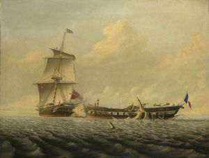 Thomas Baines - Action Between Hms 'blanche' A..