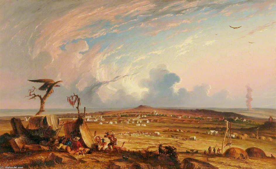 Bloemfontein, South Africa by Thomas Baines (1820-1875, United Kingdom)