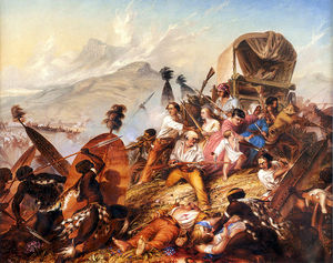 Thomas Baines - Depiction Of A Zulu Attack On ..