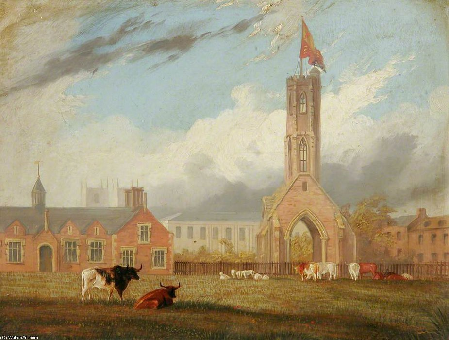 Greyfriars Tower, Norfolk by Thomas Baines (1820-1875, United Kingdom)