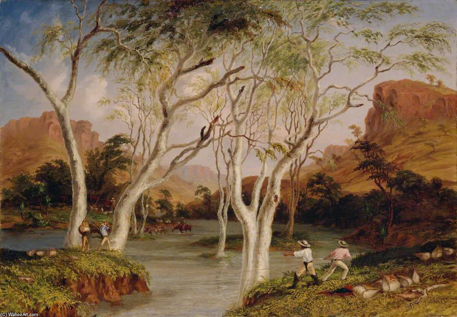 Incident In The North West Australian Expedition by Thomas Baines (1820-1875, United Kingdom)