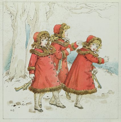 'winter' From April Baby's Book Of Tunes by Kate Greenaway (1846-1901, United Kingdom)