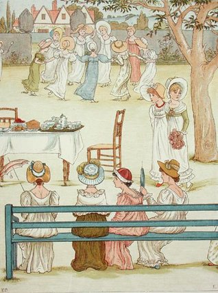 A Garden Party by Kate Greenaway (1846-1901, United Kingdom)