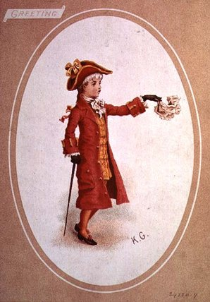 Boy Dressed In Scarlet by Kate Greenaway (1846-1901, United Kingdom)