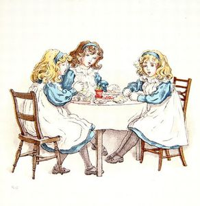 Kate Greenaway - Girls Tea Party