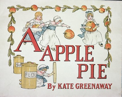 Illustration For The Letter 'a' From 'apple Pie by Kate Greenaway (1846-1901, United Kingdom)