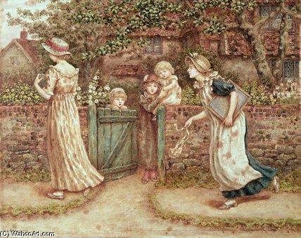 Lucy Locket Lost Her Pocket by Kate Greenaway (1846-1901, United Kingdom)