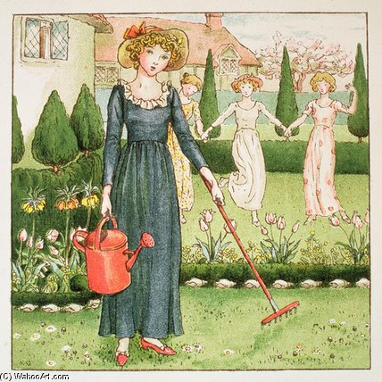Mary, Mary, Quite Contrary by Kate Greenaway (1846-1901, United Kingdom)