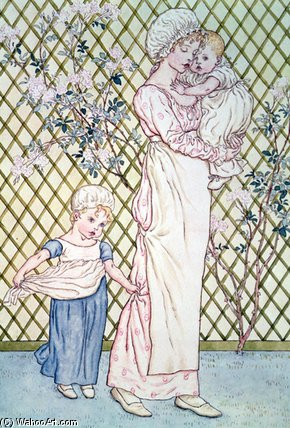 Mother And Child by Kate Greenaway (1846-1901, United Kingdom)