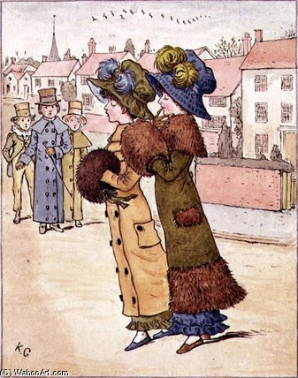 Out For A Walk by Kate Greenaway (1846-1901, United Kingdom)